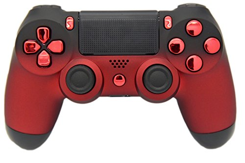 Rot & Schwarz Verblasst Soft Touch Custom PS4 Controller, Exklusives Design, un-modded - Custom-ps4-controller