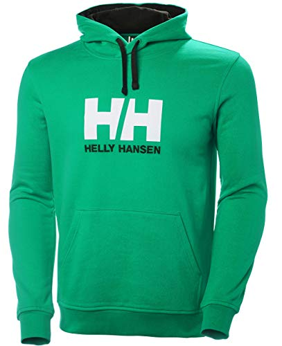 Helly Hansen Hh Logo Hoodie, Sudadera para Hombre, Verde (Verde 471), Small