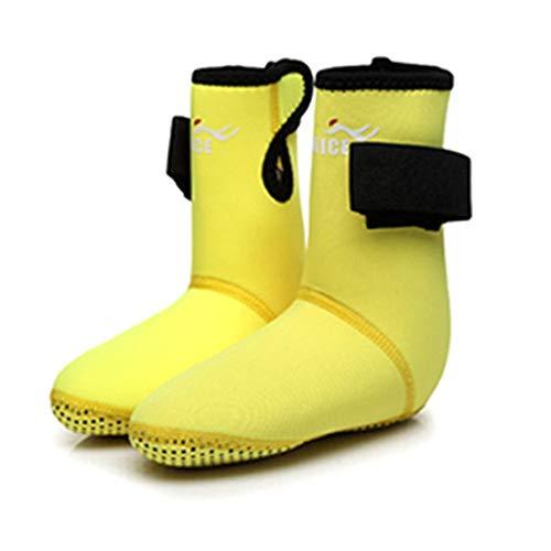 Kinder Tauchen Fin Socken Abriebfest Schnorcheln Schuhe Tauchen Socken Strand Boots Neoprenanzug 1mm Dicke rutschfeste