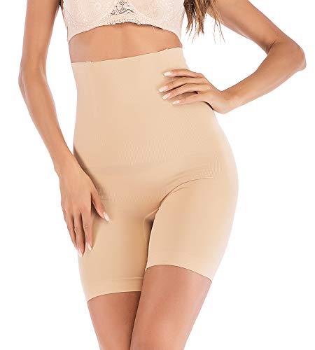 DODOING-DE Shapewear Damen Miederhose Bauch Weg Stark Body Shaper Formend Miederpants mit Bein Hohe Taille Miederslip Taillenformer Shaper Shapewear Figurformende Unterwäsche -