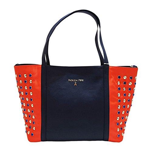 PATRIZIA PEPE , Sac pour femme à porter à l'épaule Blu-arancio