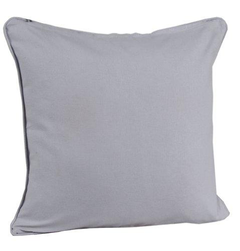 Homescapes dekorative Kissenhülle Plain Colour, grau, 30 x 30 cm, Kissenbezug mit Reißverschluss aus 100% reiner Baumwolle - Dekorative Blau Grau Kissen