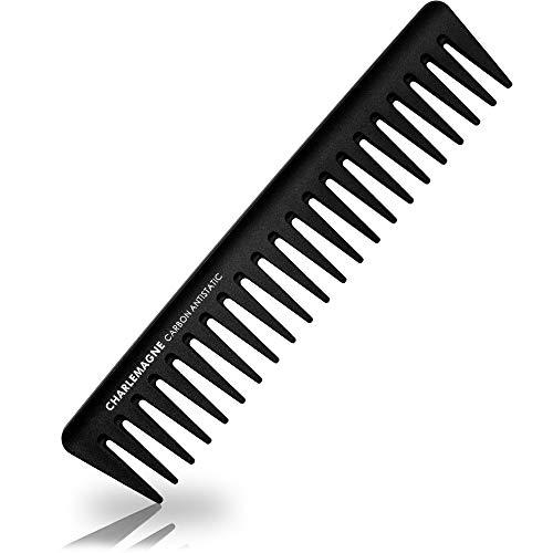 Charlemagne Premium Styling Kamm Herren | Bruchfester Premium Carbon Kamm für Haare & Bart | 19cm Grobe Zahnung | Antistatischer Styling Haar Kamm Grob Friseur | Styling für Männer und Frauen