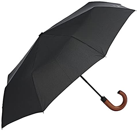 Hackett Clothing Auto O And Close Foldable, Parapluie Homme, Noir (Black), One Size(UK)
