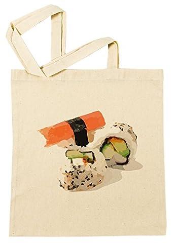 Sushi Sac à Provisions Plage Coton Réutilisable Shopping Bag Beach