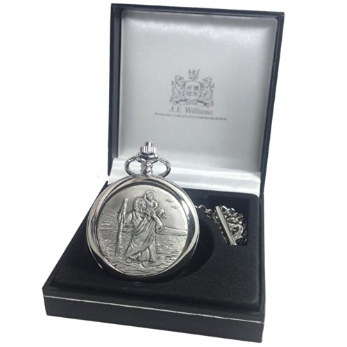 Confirmation-Gift-Engraved-St-Christopher-Pocket-Watch-in-a-Gift-Box-Boys-Confirmation-Gift