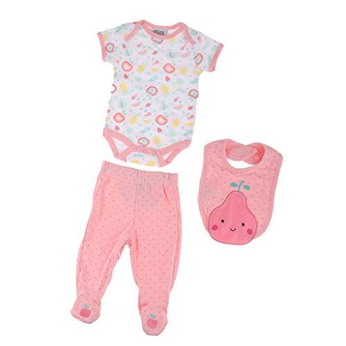 FLAMEER Niedliche Neugeborenes Baby Puppe Kleidung mit Zubehör für 50-55cm Baby Doll - # 4