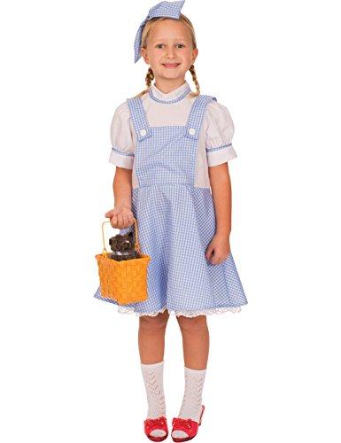 r von Oz Buch Woche Märchen Mädchen Kostüm Medium (Dorothy Costume Aus Dem Zauberer Von Oz)