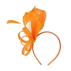 Baoblaze Damen Fascinator Haarreif Haarschmuck mit Federn Hochzeit Haarclip Kopfbedeckung Stirnband Hut