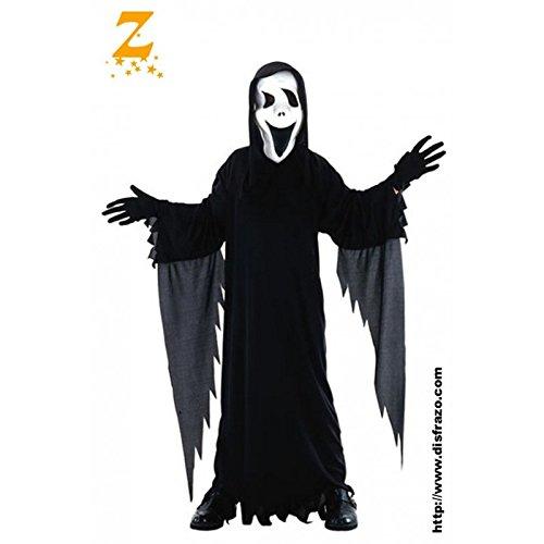 Fyasa 701082-t02Scream Kostüm, Mittel (Kostüm Scream Kinder)