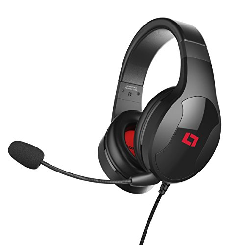 Lioncast-LX20-Gaming-Headset-fr-PC-PS4-Xbox-One-Nintendo-Switch-Mac-und-Laptop-Ultraleicht-Stereo-Sound-abnehmbares-Mikrofon-geschlossene-over-ear-Kopfhrer-Klinke-schwarz