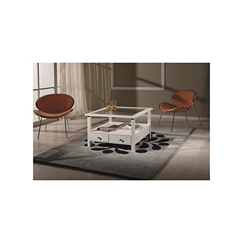 EsteaMobili estea Meubles – Table Basse carrée laqué Blanc