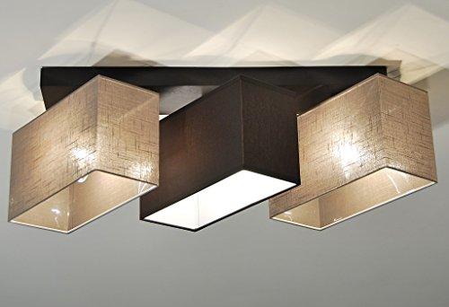 Plafoniera Per Sala Da Pranzo : Plafoniera illuminazione a soffitto in legno massiccio jls d