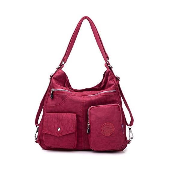 Generic Fashion Women Crossbody Bag Nylon Shoulder Messenger Bag Handbags Female Bagpack Waterproof Schoolbags Color grape purple