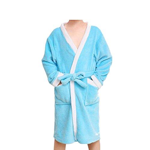Deylaying Kinder Bademantels Strand Pool Schwimmen Handtuch Terry Koralle Mädchen Jungen Schlafanzüge Kleid Pyjama Kleider (Hose Plüsch Terry)