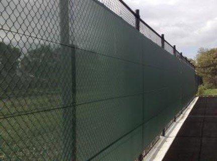 Tennis Sicht- und Windblende 18 m, schwarz [Net World Sports]