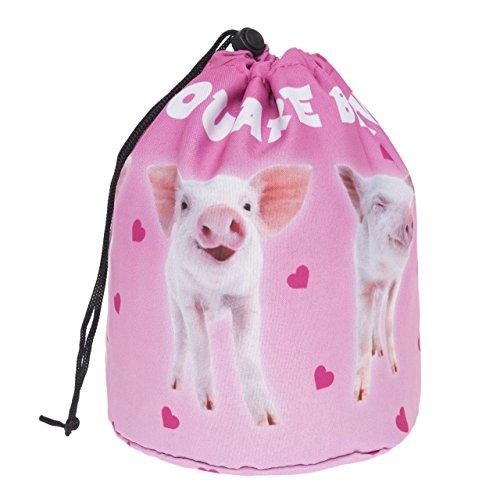 Grand Sac ronde pour les cosmétiques Trousse de toilette trousse a maquillage organisateur trousse de voyage Beautiful Pigs [034]