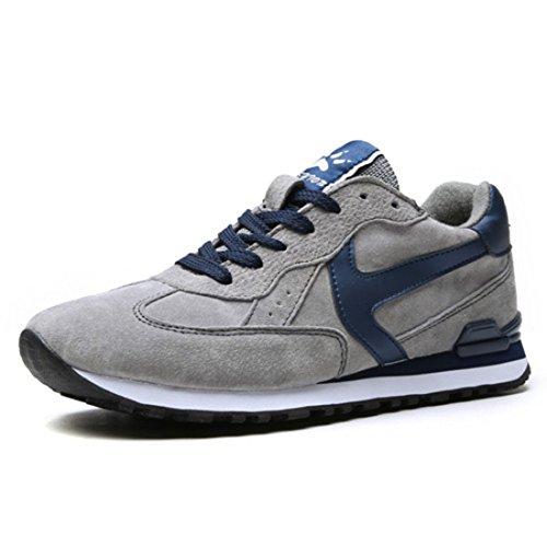 Men's Suede Vamp Comfortable Outdoor Running Shoes gray