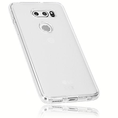 mumbi Schutzhülle für LG V30 / V30S ThinQ Hülle transparent weiss