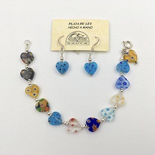 Orecchini + Bracciale in argento e cristallo - Multi Orecchini A Cristallo Di Colore
