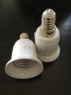 Lamp Socket Converter Adapter E14 to E27 E14 fit convert new model 2017 Small Screw to Socket E27 Gender Changer Socke - inexpensive UK light shop.