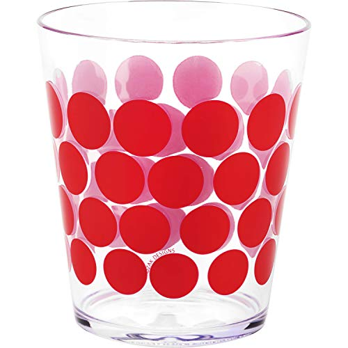 Zak Designs Dot Dot Double Old Fashioned Tumbler, 14-Ounce, Red, Set of 6 by Zak Designs 14 Oz Double Old Fashioned