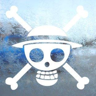 Aufkleber One Piece White Decal Luffy Car Laptop Window Vinyl White Sticker - White-vinyl Decal Sticker