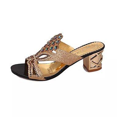 RTRY Donna Sandali Comfort Estivo Pu Dress Chunky Heel Crystal Black / Blu / Blu Royal Altri US5.5 / EU36 / UK3.5 / CN35