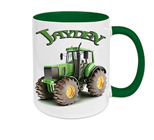 Wunschname Kindertasse Tasse Teetasse Becher Kakaotasse Bauernhof Traktor Kindergarten Kind Schulkind mit Namen - Traktor-becher
