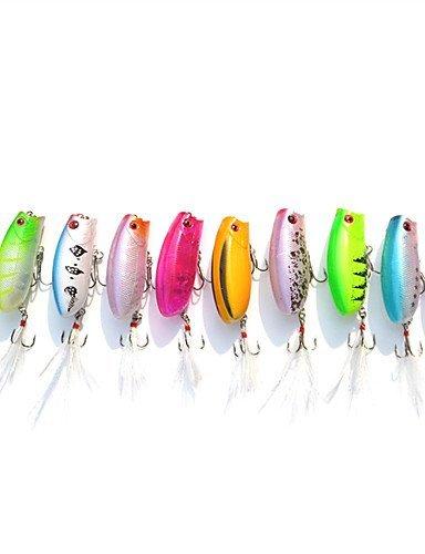 ZTMN 10 Stücke 5,7 cm / 10,6g Popper Minnow Top Wasser Schwimmköder Großhandel Zufällige Farbe