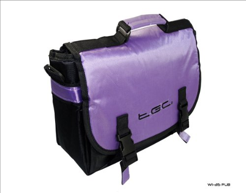 New Purple & schwarz Messenger-Stil Tragetasche für Das HP Slate 7Tablet & Cover