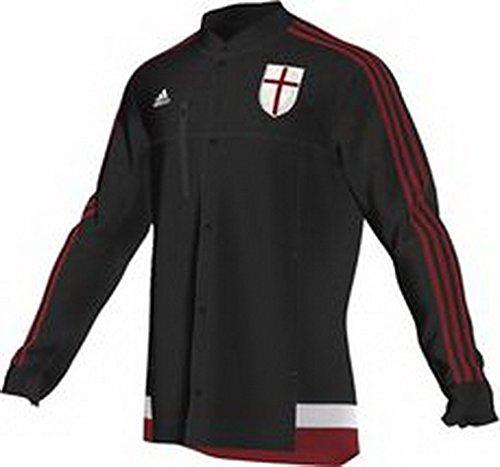 2014-2015 AC Milan Adidas Anthem Jacket (Black) Black