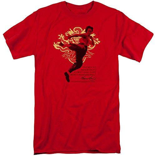 Bruce Lee Herren T-Shirt Rot