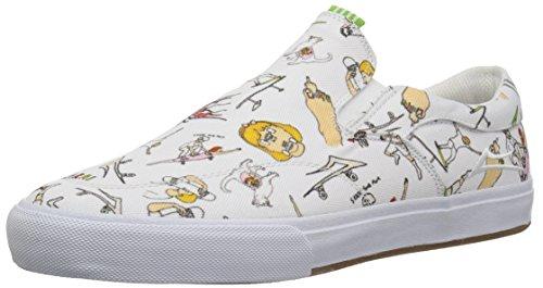 Lakai Limited Footwear Mens Chaussures De Sport A La Mode Couleur Blanc White Ca