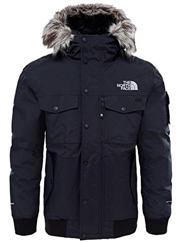 The North Face M Gotham Jacket Chaqueta, Hombre, TNF Black/High Rise Grey, L