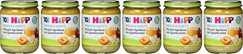 Hipp Früchte-Duett, Pfirsich Aprikose mit Quark-Creme, 6er Pack (6 x 160g)