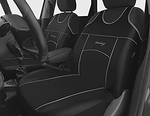 2 BLACK FAUX LEATHER SEAT COVERS FOR SEAT IBIZA