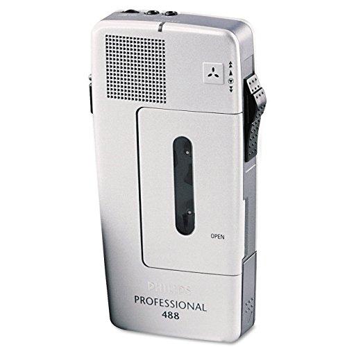 Philips 488 analógica de bolsillo Memo recargable REC/BATT Audible Warning Ref LFH0488-00