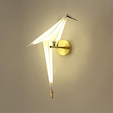 FIONADAN La personnalité créative escalier salon restaurant allée chambre lit nordique Lampes appliques grues de papier