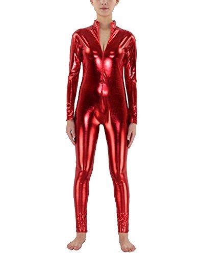 Second Billig Skin Kostüm - Anyu Second Skin Kostüm Ganzkörperanzug Halloween Kostüme Rot S
