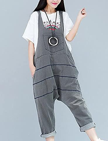 PU&PU Femme Street Chic Taille Normale Extensible Salopette Pantalon,Sarouel Couleur Pleine , purple , one-size