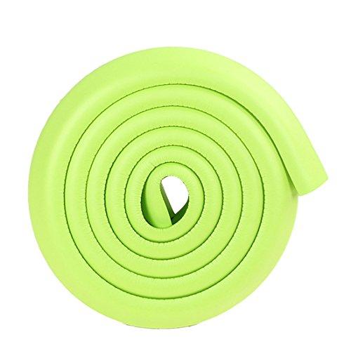 3 Stück Kantenschutz,Eckenschutz Baby Eckenschützer Zuschneidbar Weich Stoßschutz für Tisch- und Möbel-Ecken Kinderschutz 2m (Green)