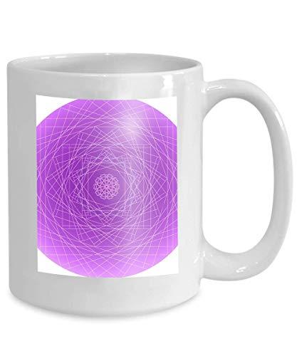 Taza de café Tea Cupabstract diseño de atrapasueños aislado sobre fondo blanco Geométrico 110z