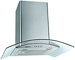 Sunflame 60 cm 1100 m3/h Chimney (CH Tulip 60 SS BF,White)
