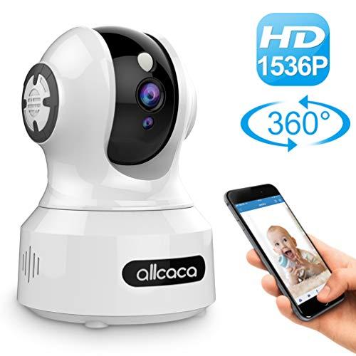 IP Kamera 3MP Überwachungskamera Innen WLAN 1536P HD Home Baby M...