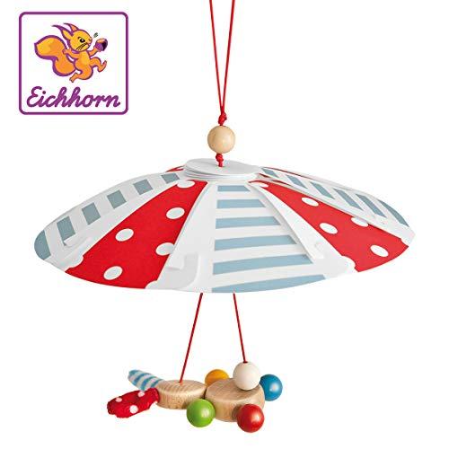 Eichhorn 100017029 - Baby Mobile mit Hase am Fallschirm, FSC 100{7972820d8800d6ce557a166868aaa3e24acfd1515dfca5ca433edb586486a7cd} Zertifiziertes Buchenholz