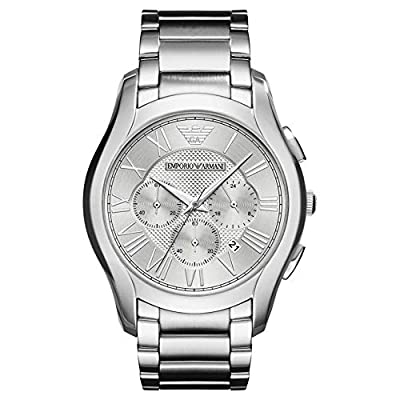 Emporio Armani Mens Chronograph Quartz Watch with Stainless Steel Strap AR11081