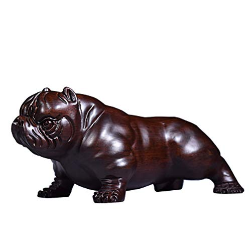 CZ-wyf Bulldogge Hund Statue, Polyresin, Bronze Finish / 8.7x4.72 Zoll - Polyresin Bronze-finish