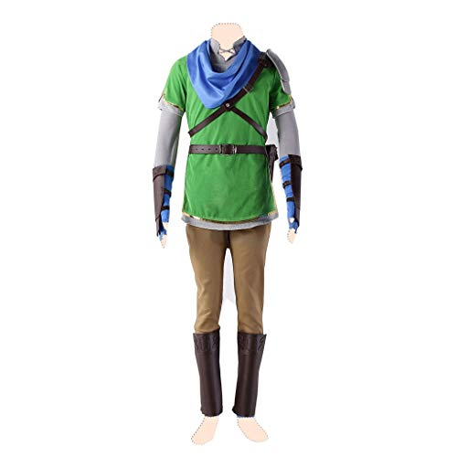 Dream2Reality The Legend of Zelda_ Link's Awakening_Dreaming Island Cosplay Kostuem Link Ver.5 Green Suits Small
