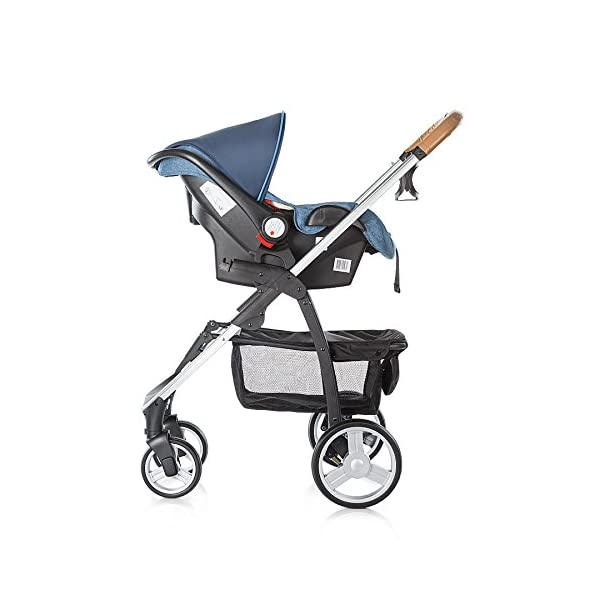 Chipolino Baby Stroller and Carry Cot Avenue, Navy Chipolino Can also be transformed into a carry cot Comfortable upholstered carrycot with mattress and carry handle Single front swivel lockable wheels 10